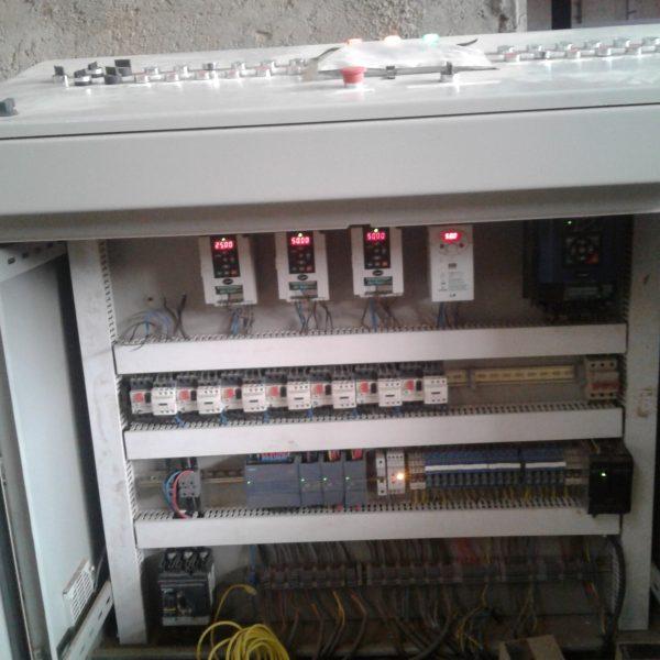 تابلو برق خط تولید آجرپزی با پی ال سی plc