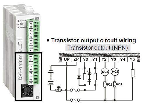 نحوه سیم بندی خروجی ترانزیستوری دلتا